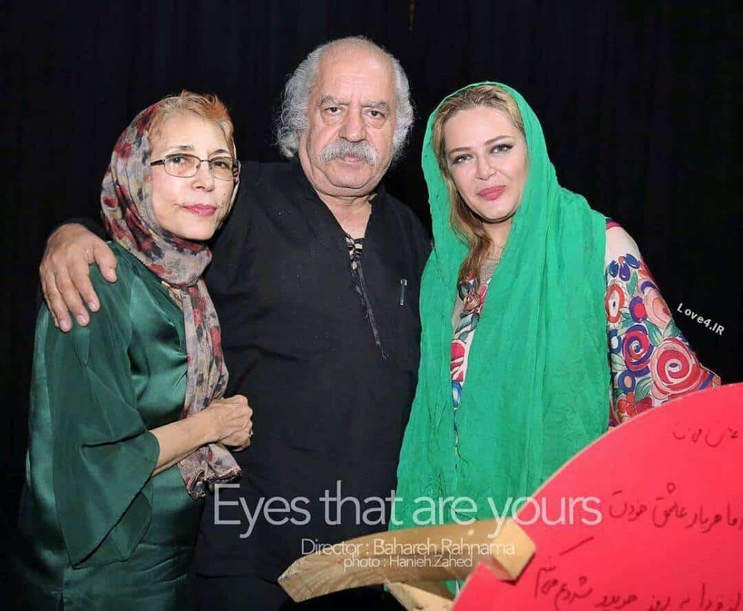 عکس بهاره رهنما با پدر و مادر گلشیفته فراهانی