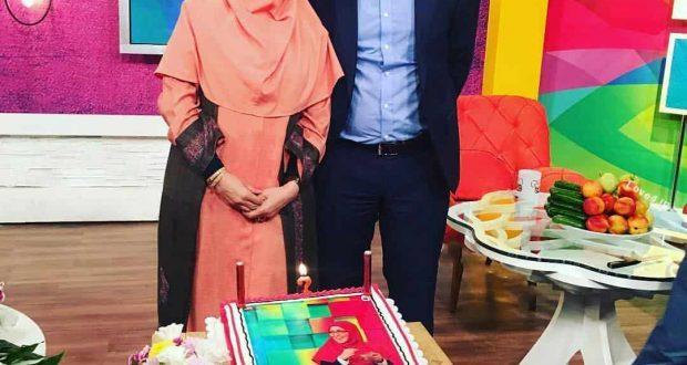 جشن تولد ژیلا صادقی   کیک تولد ژیلا صادقی