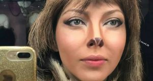 گریم خفن لیلا اوتادی در فیلم آهوی پیشونی سفید2