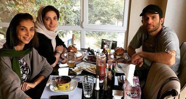 مینا ساداتی و بابک حمیدیان زوج بازیگر