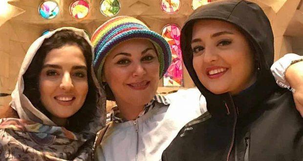 خوشگذرانی لاله اسکندری نرگس محمدی و خواهرش در بارسلون