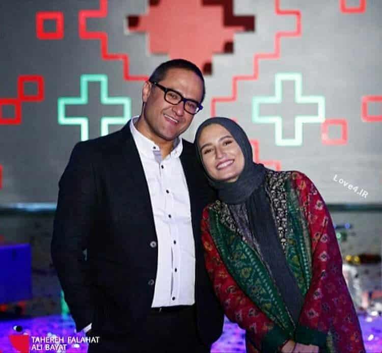 عکس نگار جواهریان و همسرش در پشت صحنه خندوانه