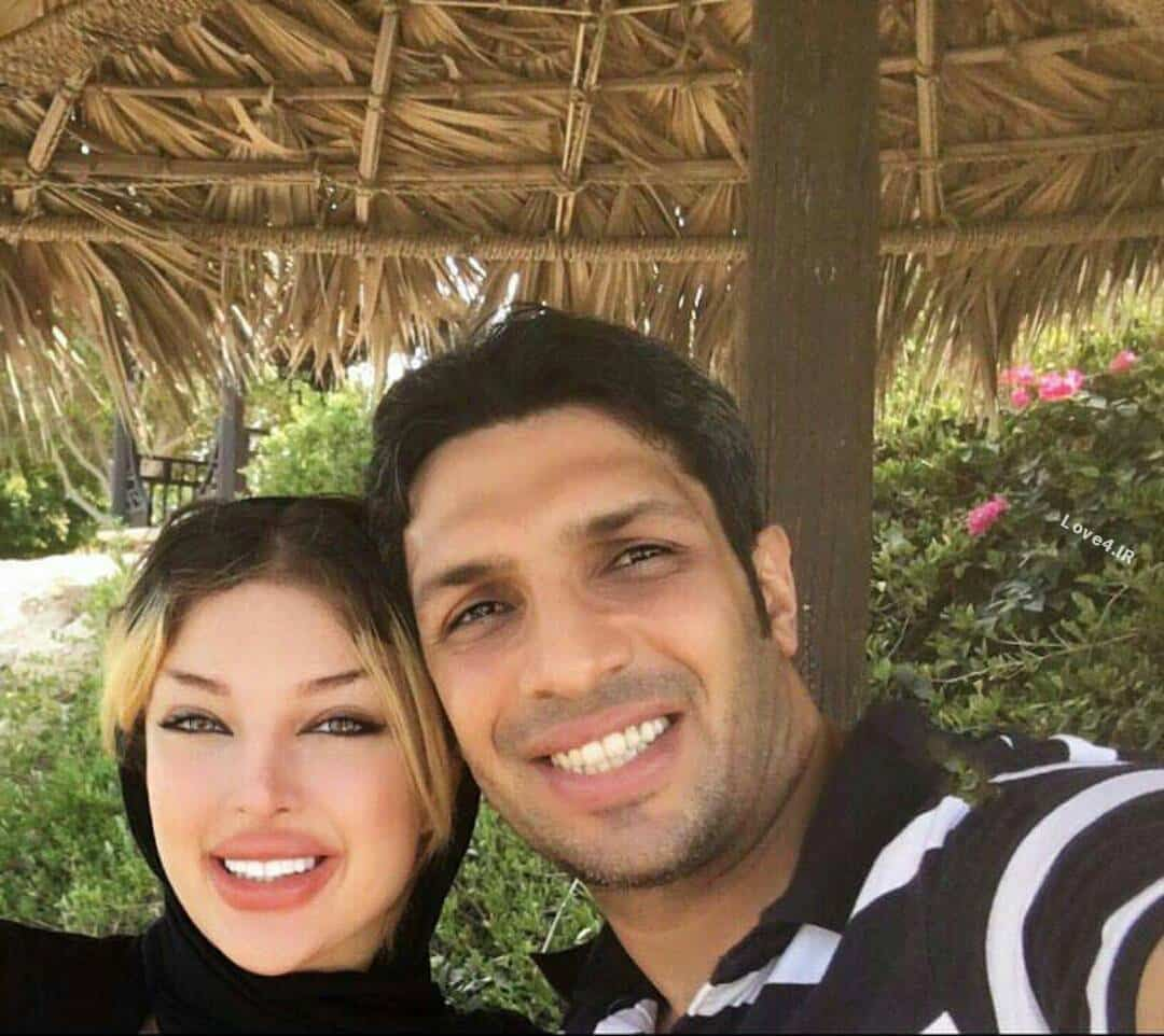 سلفی جدید سپهر حیدری و همسرش