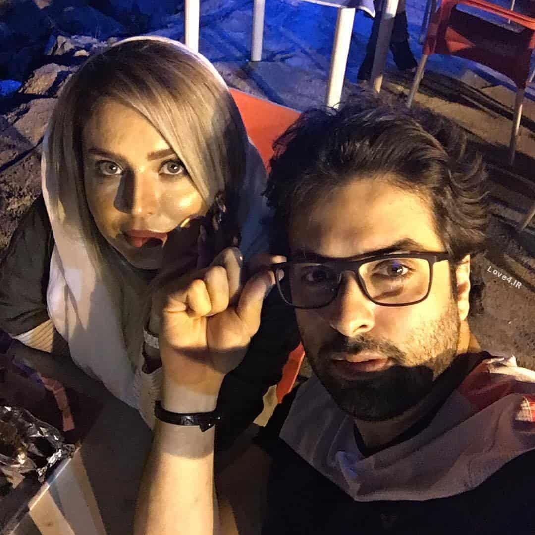 عکس اینستاگرام سولماز آقمقانی و همسرش