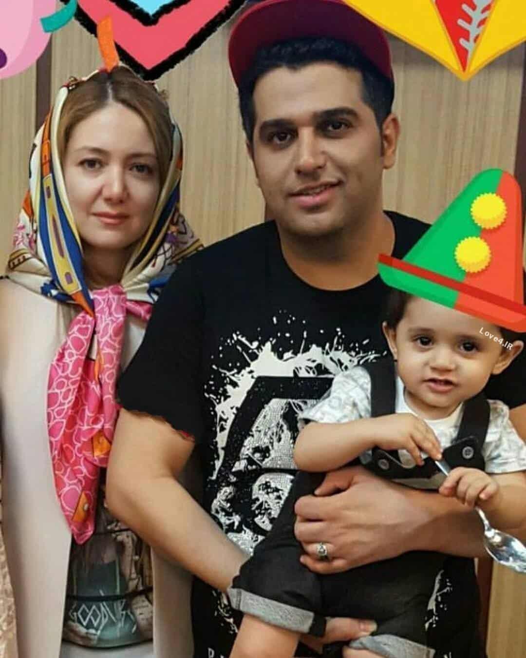 عکس اینستاگرام حمید عسکری کنار همسر و پسرش