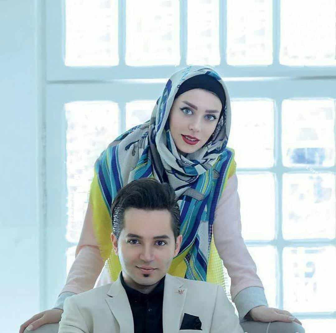 شهنام شهابی و همسرش