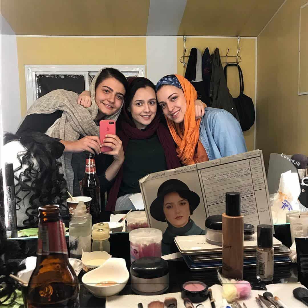 عکس ترانه علیدوستی در اتاق گریم سریال شهرزاد 3