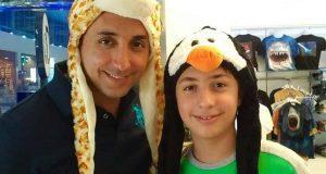 عکس خانوادگی امیرحسین رستمی و پسرش ارشیا