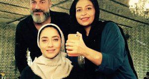 گریم بهاره کیان افشار و امیر اقایی در سریال نوار زرد
