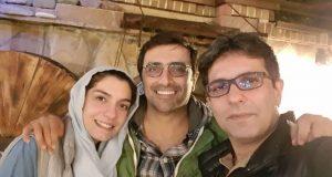 عکس سلفی الیکا عبدالرزاقی همراه همسر و برادرش