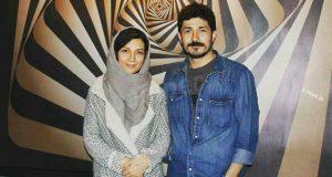 عکس و بیوگرافی حدیث میرامینی و همسرش