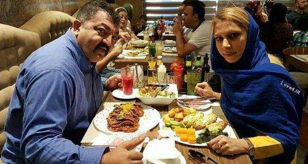 عکس دونفره احمد ایراندوست با همسرش