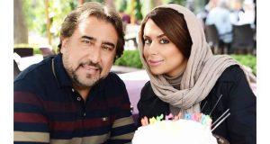 عکس خانوادگی محمود دینی با دخترش نگار در روز تولدش