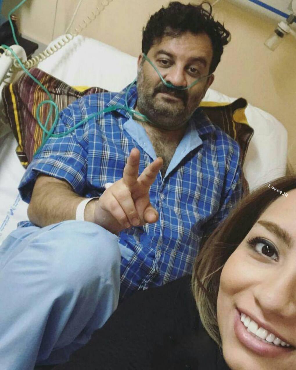 سلفی محراب قاسمخانی با دخترش