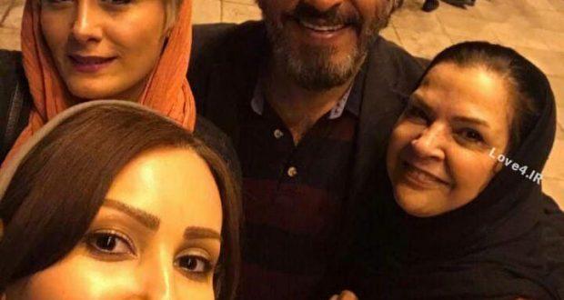 سلفی پرستو صالحی با زوج هنری افسر اسدی و اصغر همت
