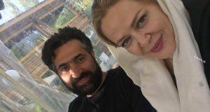 تیپ جدید بهاره رهنما و همسر جدیدش کنار پدر و مادرش