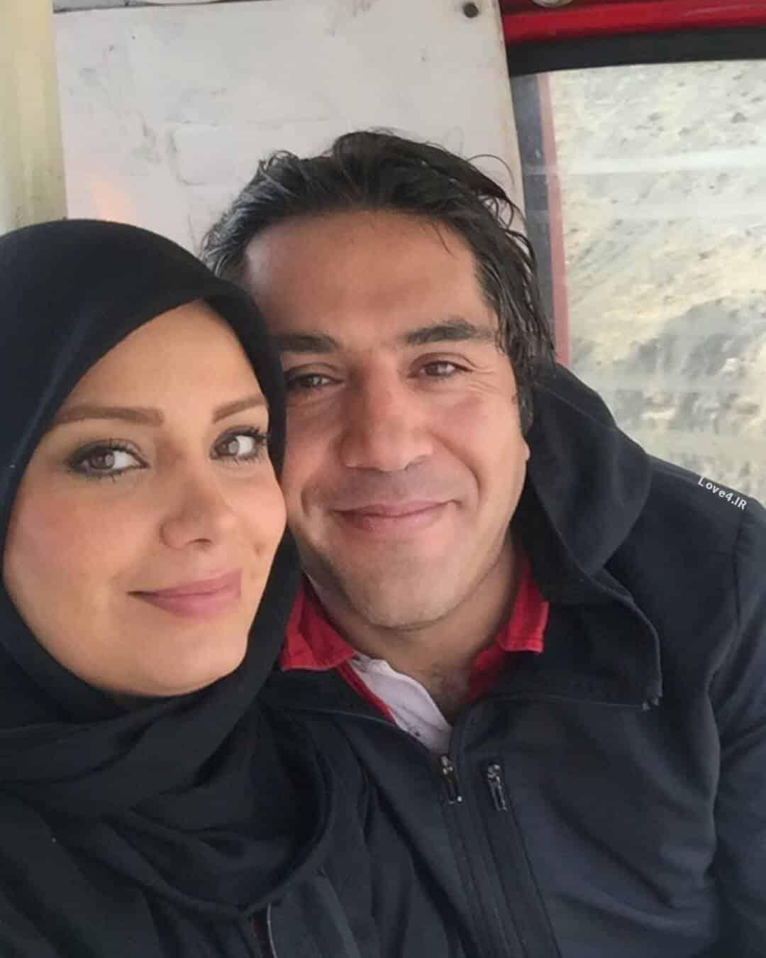 عکس دونفره صبا راد با همسرش مانی رهنما