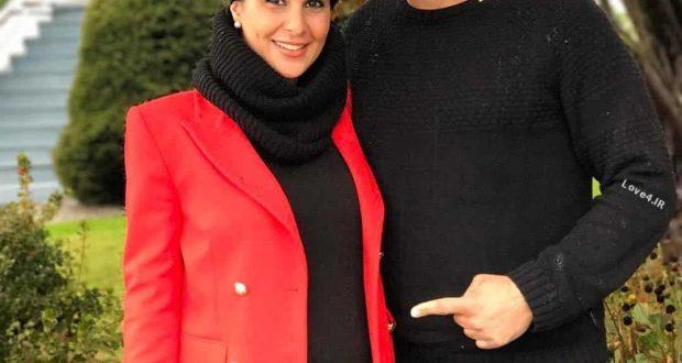 عکس اینستاگرام سام درخشانی و همسر باردارش