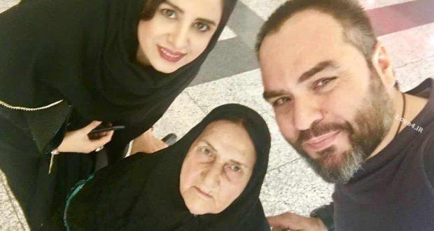سلفی خانوادگی شهرام قائدی با همسر و مادرش
