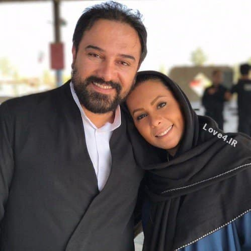 عکس دو نفره برزو ارجمند همراه خواهرش