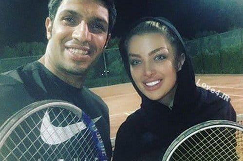 بازی تنیس سپهر حیدری با همسرش