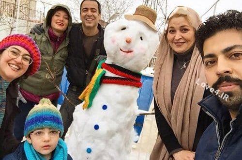عکس آدم برفی بازیگران و دوستانشان