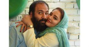 نرگس محمدی کنار همسرش علی اوجی