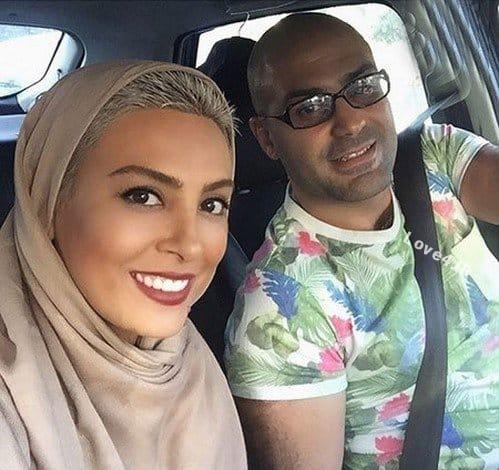 تیپ جدید حدیث تهرانی و همسرش