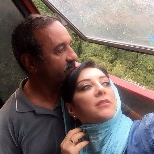 سلفی دو نفره حمیرا ریاضی و علی اوسیند