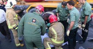 تصادف مرگبار کامیون با عابرین پیاده در ایران