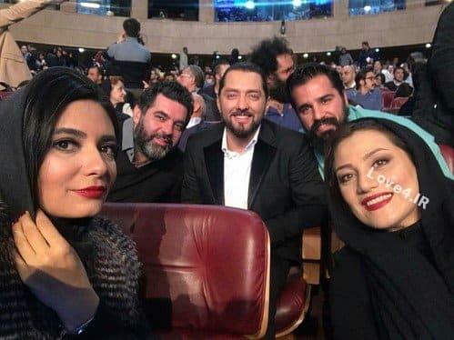 سلفی لیندا کیانی شبنم مقدمی بهرام رادان و مصطفی کیایی در جشنواره فیلم فجر
