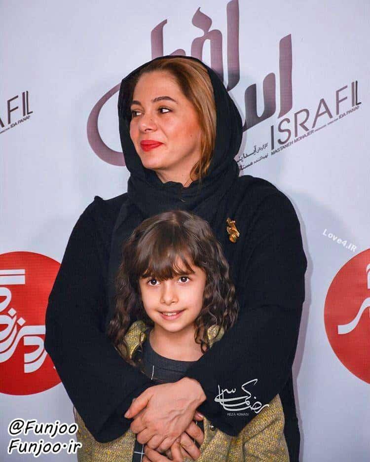 عکس مستانه مهاجر و دخترش نفس بازغی همسر پژمان بازغی