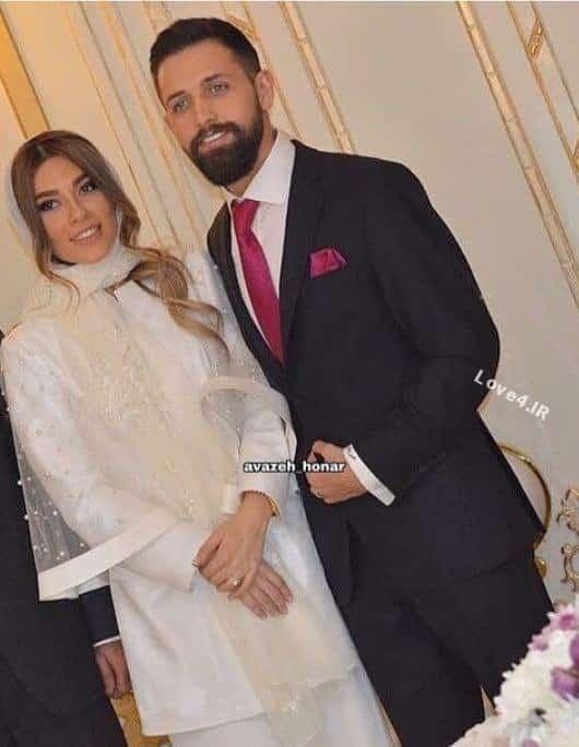 مراسم عقد محسن افشانی و همسرش