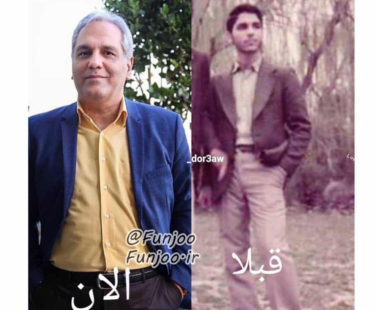 عکس جدید مهران مدیری و دوران جوانی
