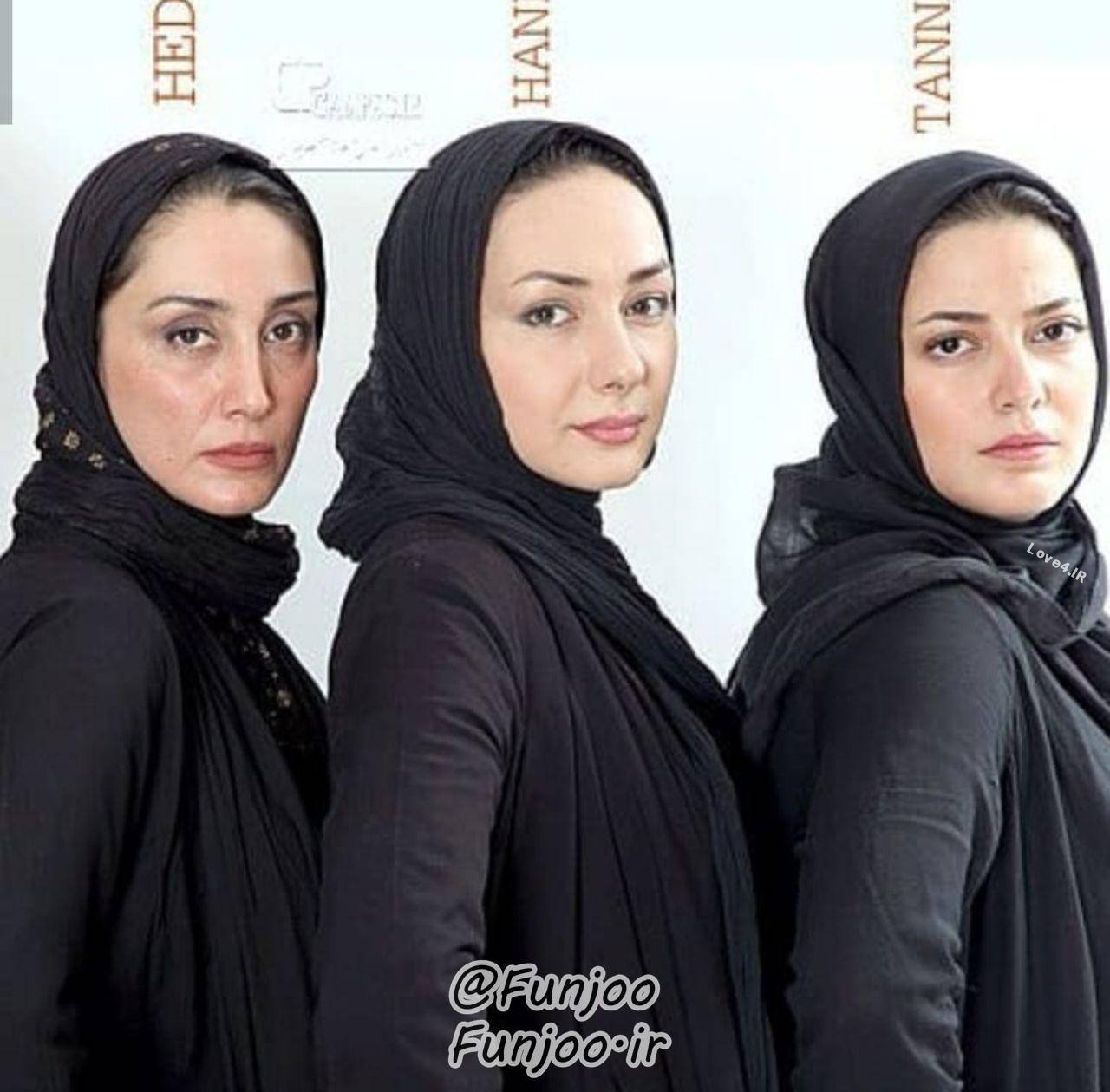 ست لباس مشکی هدیه تهرانی هانیه توسلی و طنازطباطبایی