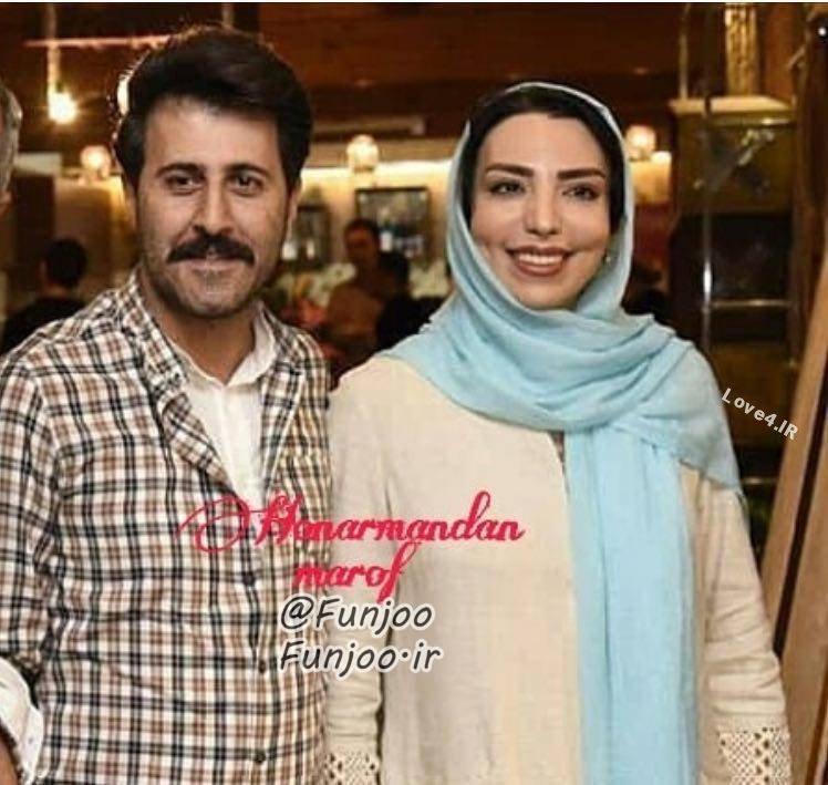 عکس هومن حاجی عبدالهی و همسرش