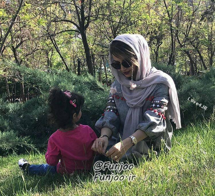 تیپ جدید شبنم قلی خانی و دخترش در طبیعت