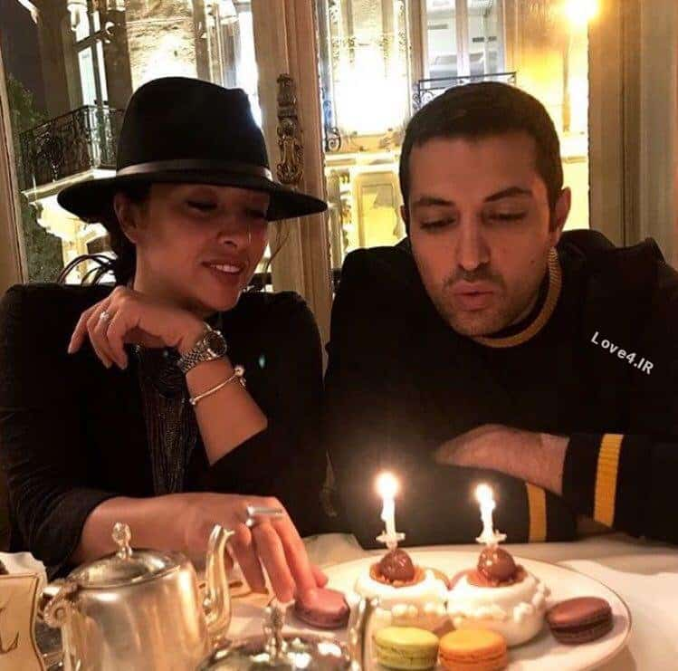 عکس جدید اشکان خطیبی و همسرش