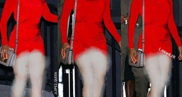 عکس زیبای جنيفر لوپز با تیپ قرمز