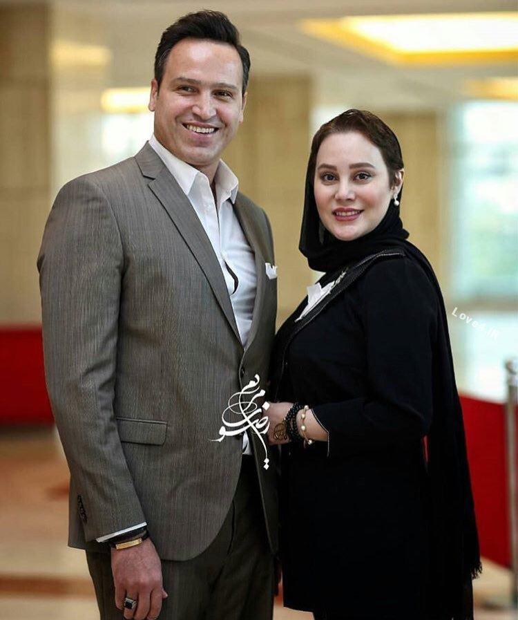 تیپ ارام جعفري و همسرش در جشن حافظ